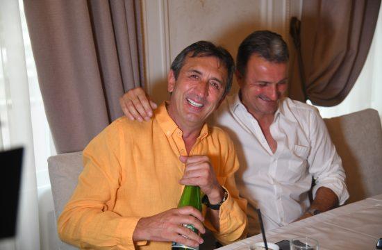 Žika Jakšić i Ivan Milinković Otvaranje restorana Košnica, restoran, poznati