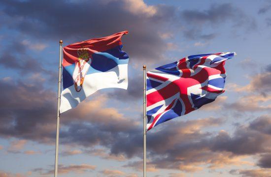 Britanska, Srpska, zastava
