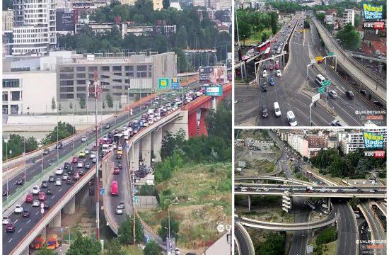 Gazela, Autokomanda, Sajam, Mostarska petlja, gužva, saobraćaj