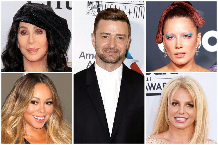 Šer, Cher, Maraja Keri, Mariah Carey, Džastin Timberlejk, Justin Timberlake, Holsi, Holsey, Britni Spirs, Britney Spears