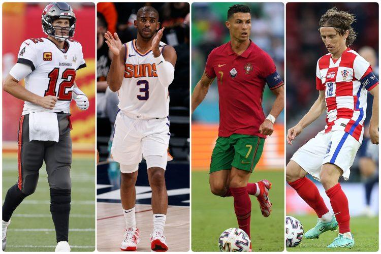 Tom Brady, Chris Paul, Cristiano Ronaldo, Luka Modrić