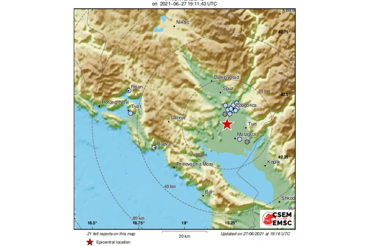 Zemljotres Crna Gora