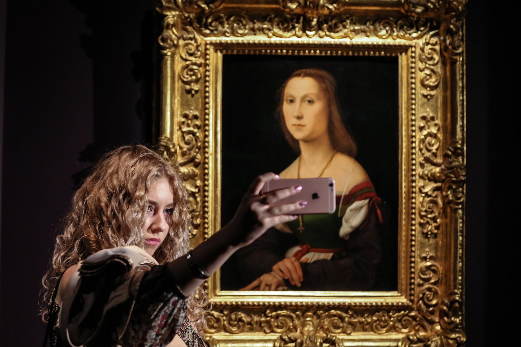 Portret mlade dame, Rafael