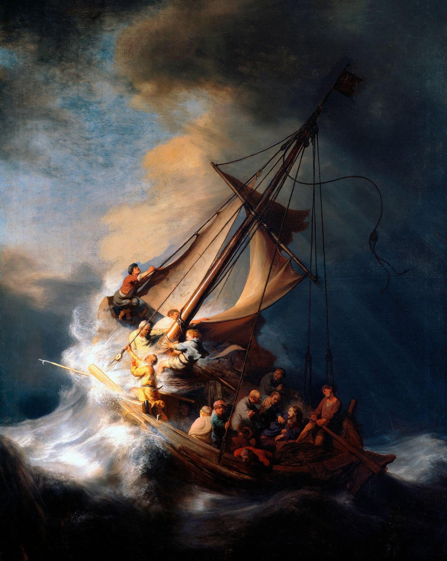 Oluja na Galilejskom moru, Rembrant