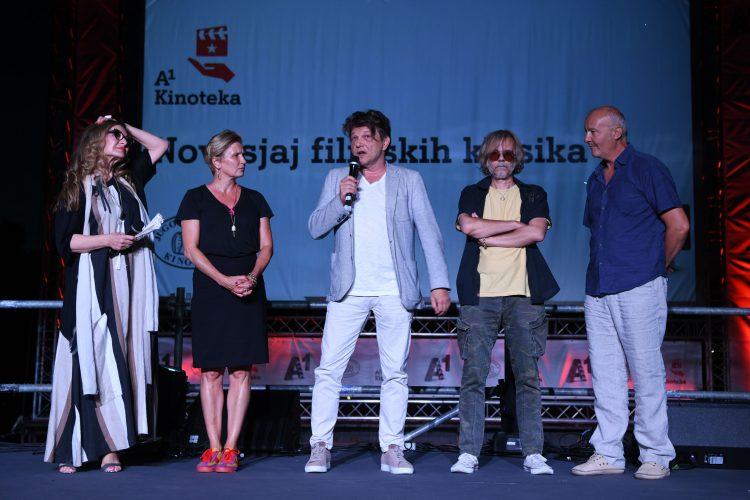 Danica Maksimović, Gala Videnović, Dragan Bjelogrlić, Srđan Žika Todorović i Goran Radaković Bal na vodi, film, restaurirana verzija filma