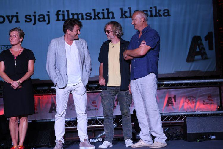Gala Videnović, Dragan Bjelogrlić, Srđan Žika Todorović i Goran Radaković Bal na vodi, film, restaurirana verzija filma