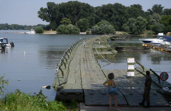 Lido, pontonski most, ponton