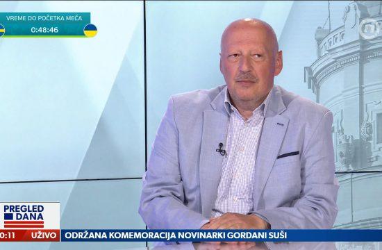 Stojan Drčelić, gost, emisija Pregled dana
