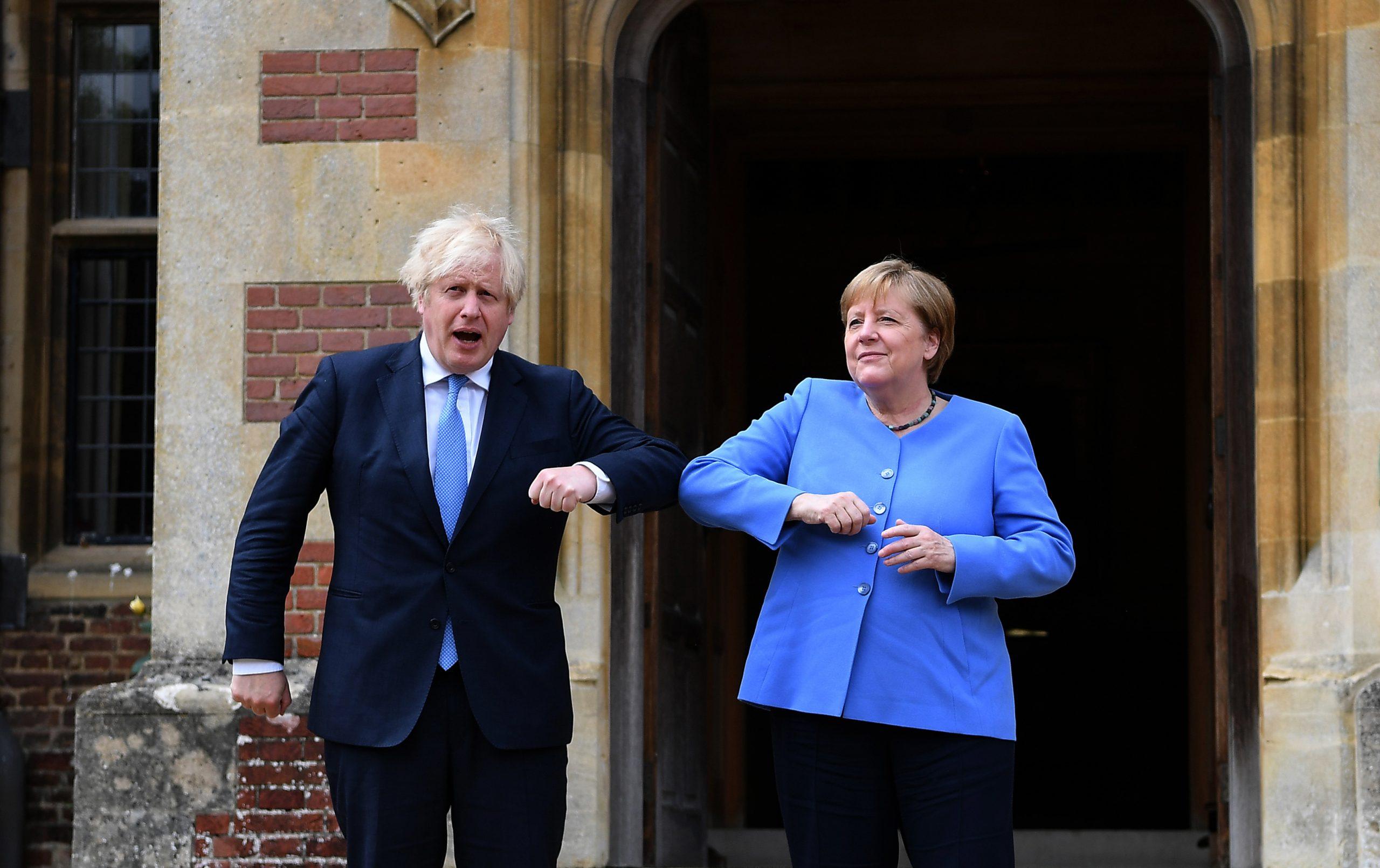 Angela Merkel i Boris Dzonson