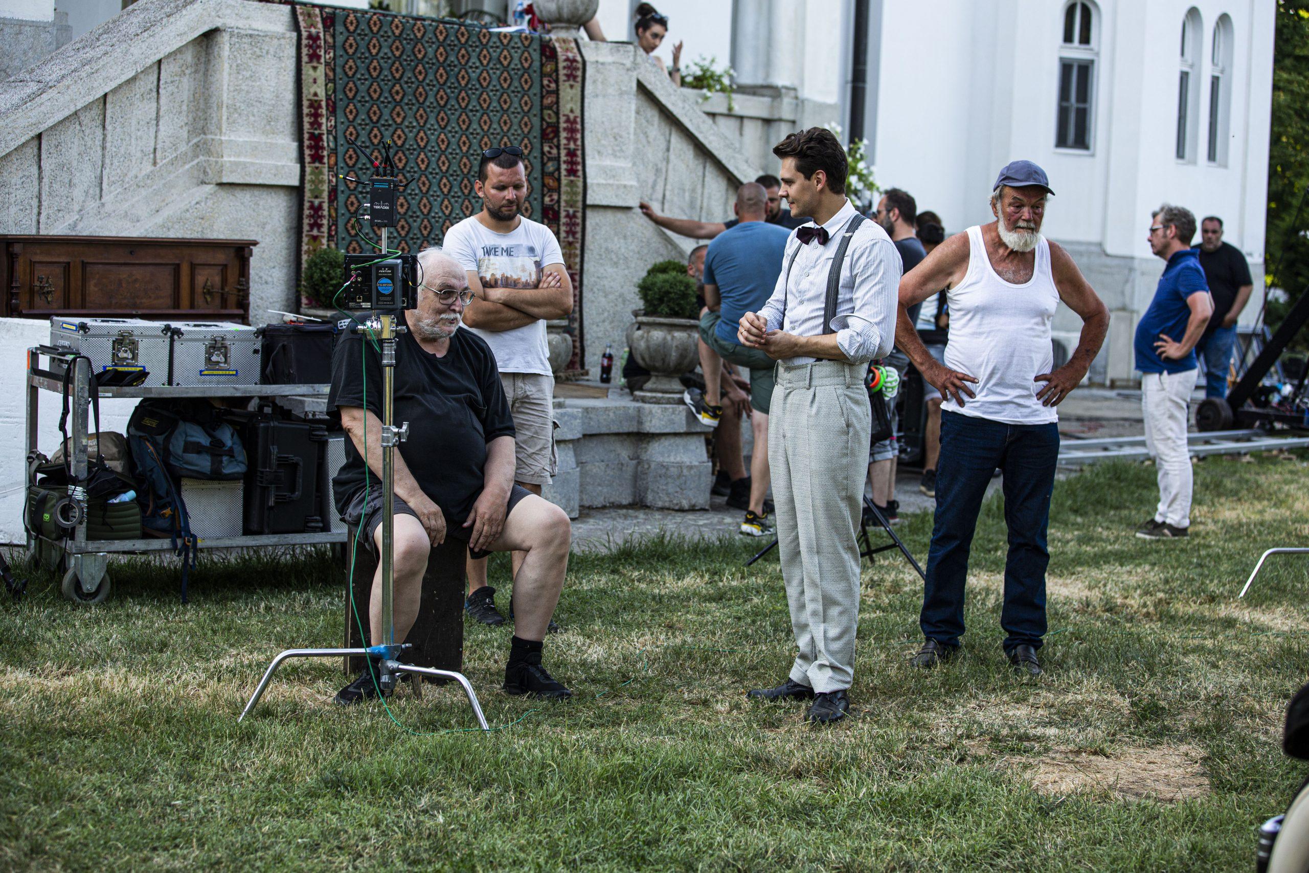 Snimanje filma Budi Bog s nama Slobodan Sijan i Milos Bikovic
