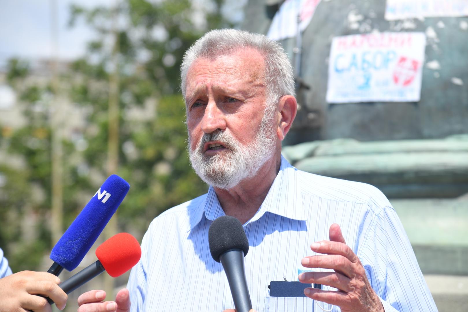 Advokati, protest Branislav Tapušković