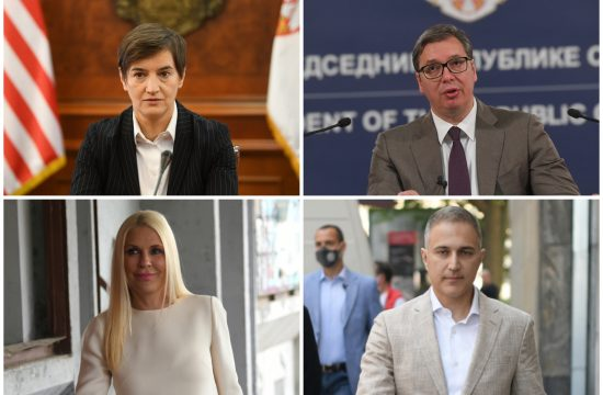 Ana Brnabić, Aleksandar Vučić, Biljana Popović Ivković, Nebojša Stefanović