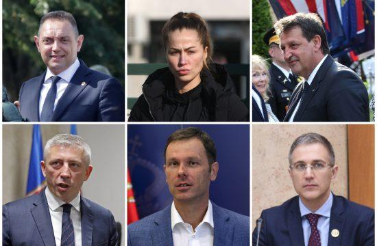 Aleksandar Vulin, Dijana Hrkalović, Bratislav Gašić, Kokeza, Siniša Mali, Nebojša Stefanović