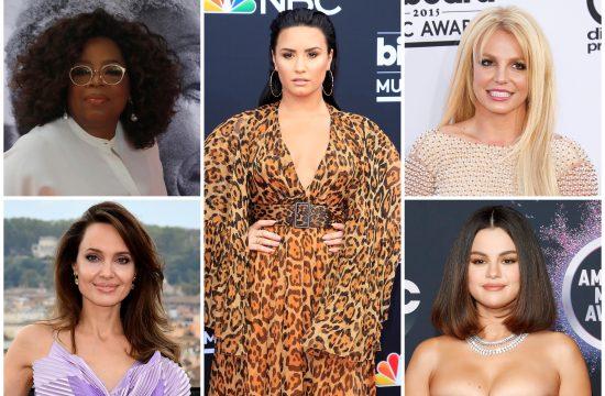 Opra Vinfri, Andjelina Žoli, Demi Lovato, Britni Spirs, Selena Gomez
