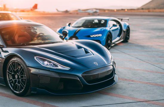 Rimac, Bugatti, Porsche automobil