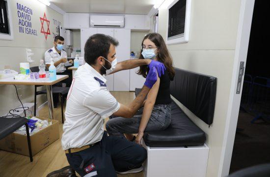 Izrael Tel Aviv vakcinacija deca