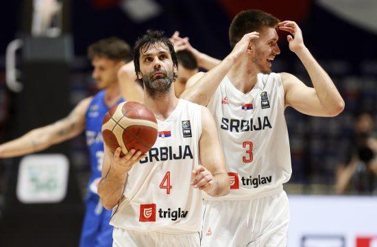 Reprezentacija kosarka Srbija - Italija finale FIBA Olimpijski Kvalifikacioni Turnir Beograd, Srbija in Belgrade Serbia, 4.7.2021.