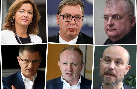 Tanja Fajon, Vladimir Bilcik, Aleksandar Vucic, Dragan Djilas, Vuk Jeremic i Nenad Canak