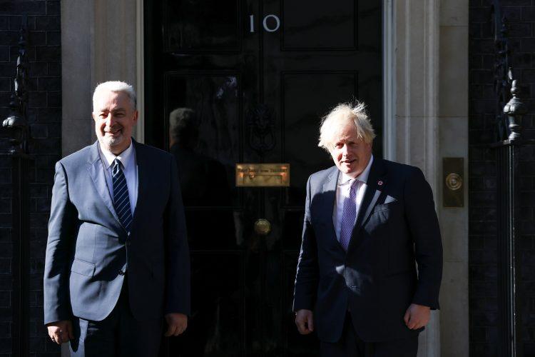 Zdravko Krivokapic i Boris Dzonson Boris Johnson