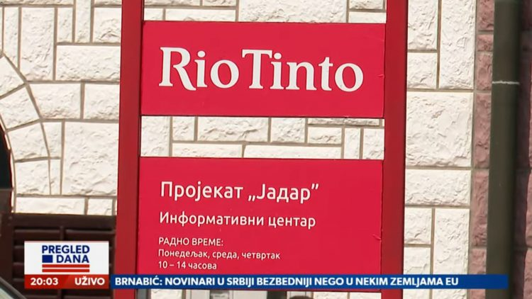 Rio Tinto, Da li Rio Tinto sprema projekat Jadar 2, prilog, emisija Pregled dana