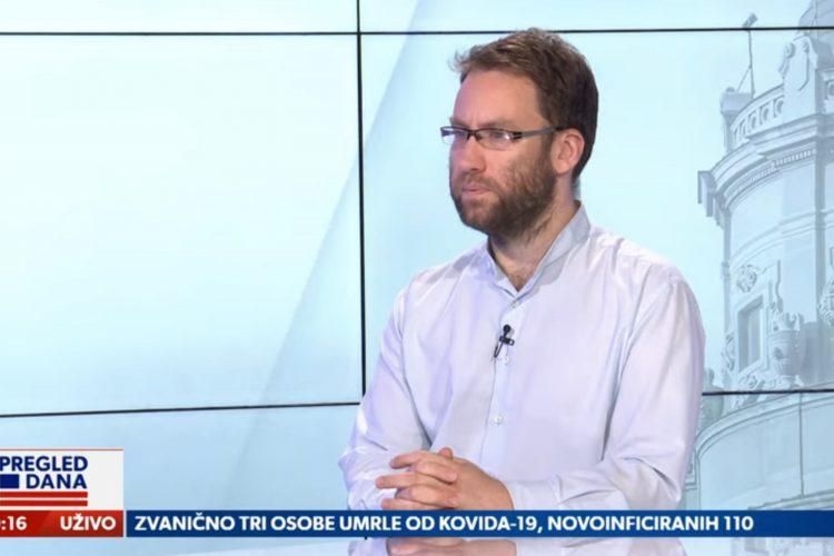 Radoš Đurović, direktor Centra zRadoš Đurović, direktor Centra za zaštitu i pomoć tražiocima azila, emisija Pregled dana