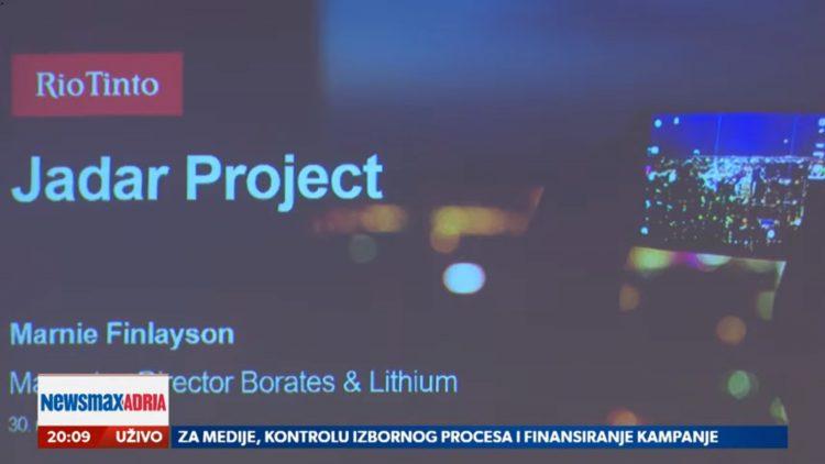 Rio Tinto 2, Projekat Rio Tinto u Srbiji, ne samo ekonomski već i veliki politički interes sadašnjih vlasti u Beogradu, prilog, emisija Pregled dana