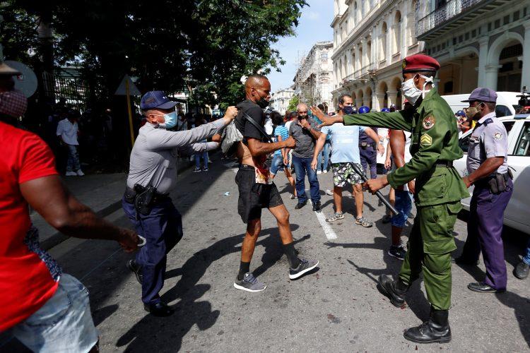 Kuba, protest