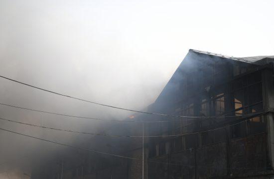 Luka Beograd, požar, magacin