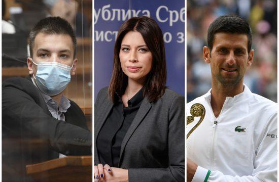 Janko Langura, Irena Vujović, Novak Đoković