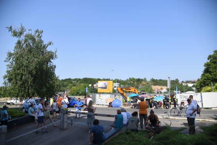 Protest Blok 37 Novi Beograd