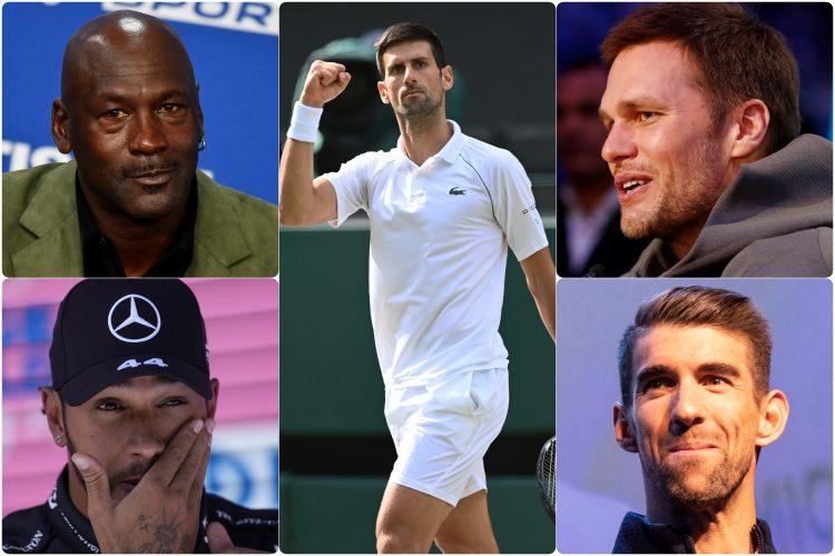 Novak Djokovic Majkl Dzordan, Tom Brejdi, Majkl Felps, Luis Hamilton