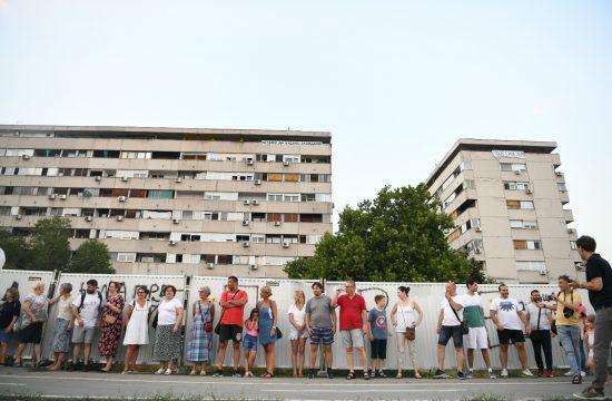 Beograd Protest stanara bloka 37. Blok 37, Novi Beograd