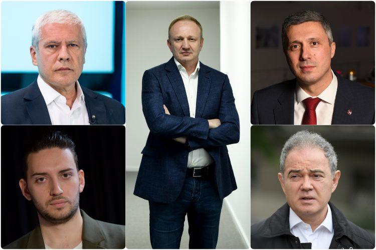 Boris Tadic Dragan Djilas Pavle Grbovic Bosko Obradovic Zoran Lutovac