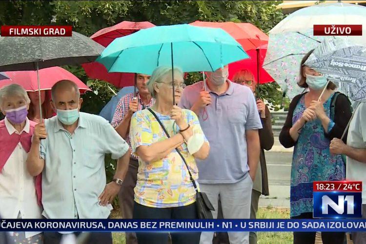 Protest stanara, ulica Kneza Višeslava