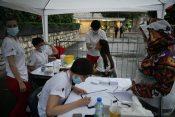 Koncert grupe Bajaga i instruktori na stadionu Tašmajdan, testiranje
