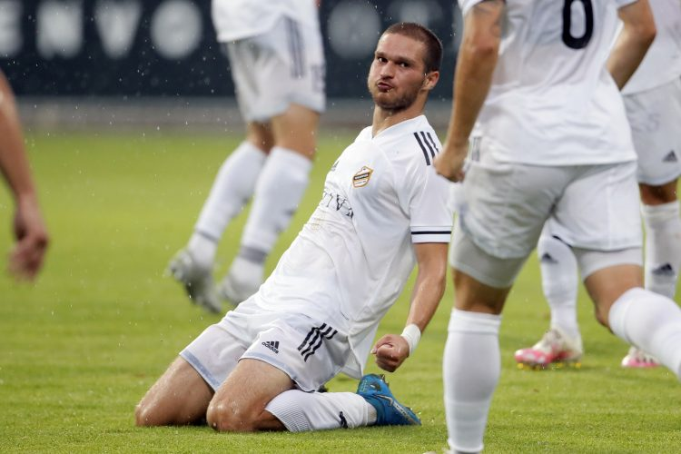 Đorđe Jovanović slavi gol protiv Voždovca