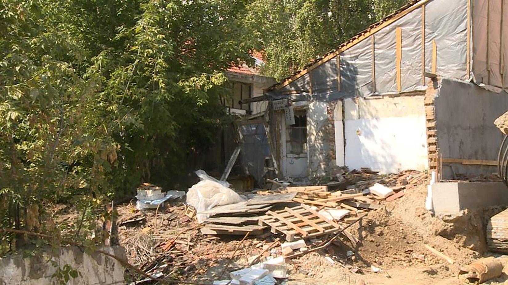 Dubljanska ulica, obrušavanje, srušila se kuća