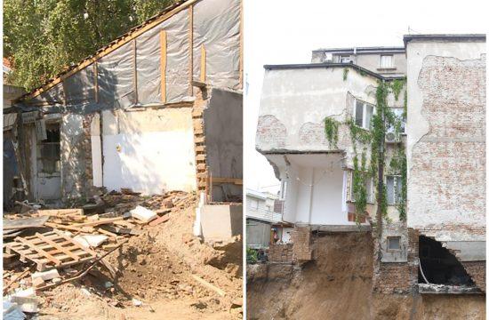 Dubljanska, kuća 2008. godina obrušavanje. Pala zgrada Vracar, Vidovdanska 2a