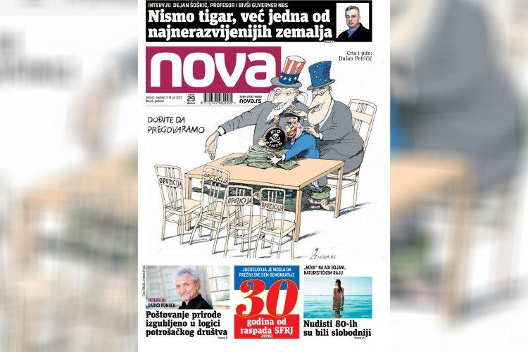 Nova, za suboti i nedelju, vikend broj, 17-18. jul, broj 16, dnevne novine Nova, dnevni list Nova