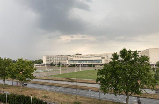 Kiša, nevreme, pljusak, letnji pljusak, Palata Srbija, SIV, Palata federacije