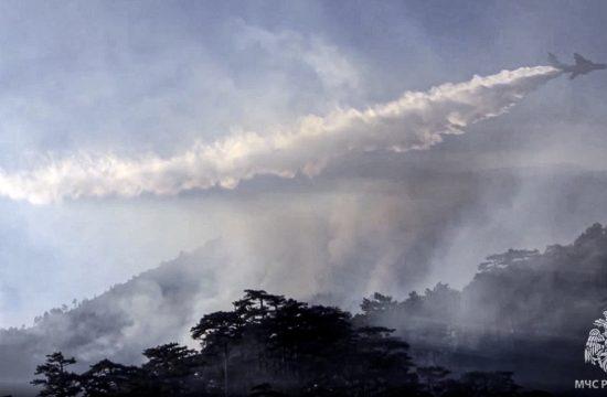 Rusija, požar, gašenje požara, šumski požar