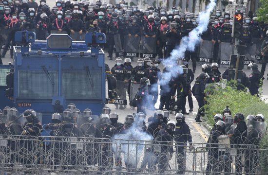 Tajland, policija, demonstracije, protest