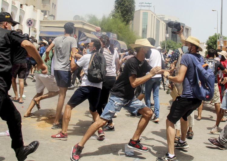 tunis protest