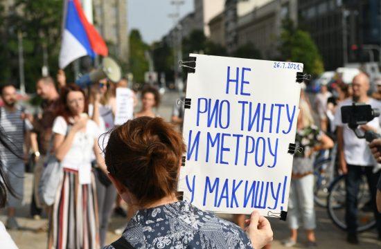 Protest ispred Skupstine Srbije Vode Srbije Eko straza