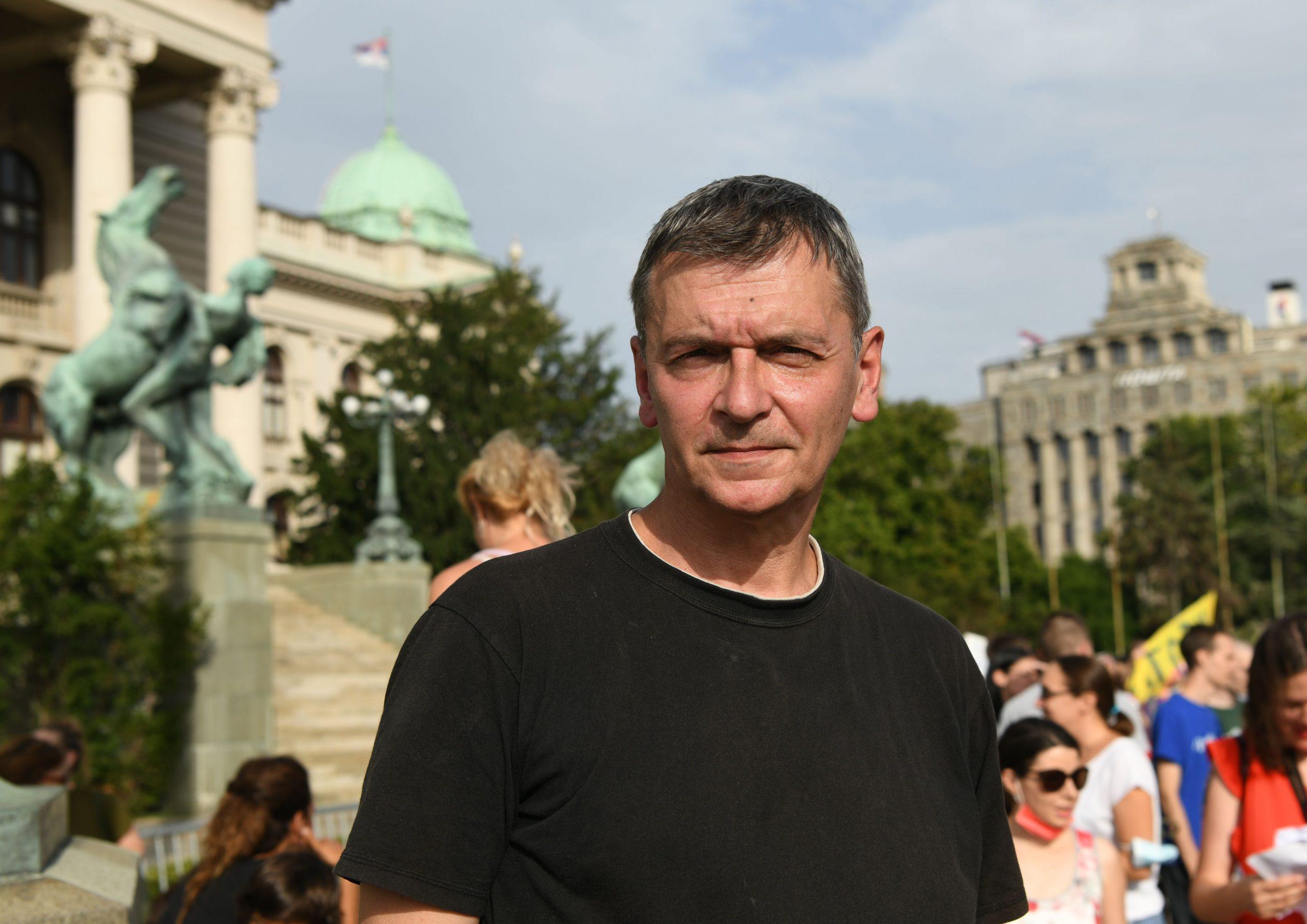 Protest ispred Skupstine Srbije Vode Srbije Eko straza Aleksandar Jovanovic Cuta