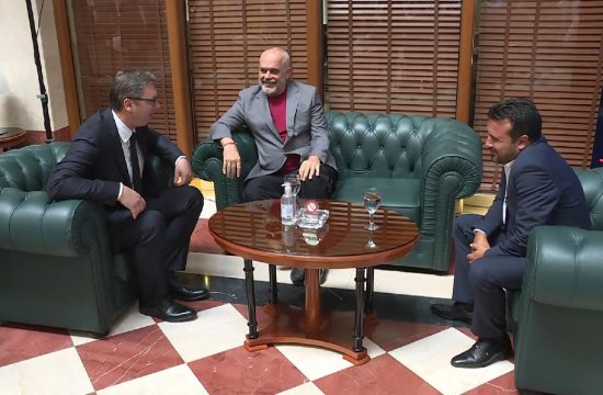 Aleksandar Vucic Skoplje Makedonija Edi Rama Zoran Zaev