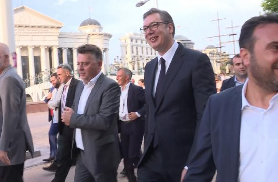 Aleksandar Vucic Skoplje Makedonija Edi Rama Zoran Zaev Petre Silegov