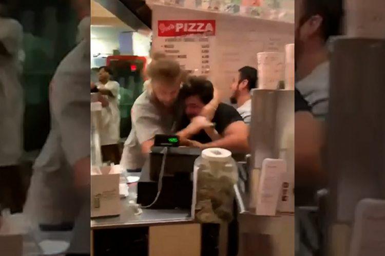 Žestoka tuča u piceriji