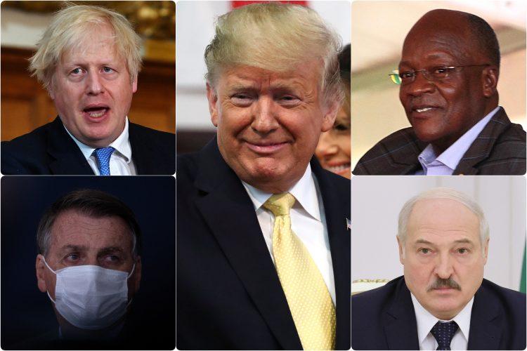 Jair Bolsonaro Donald Trump Alexander Lukashenko John Magufuli Boris Johnson