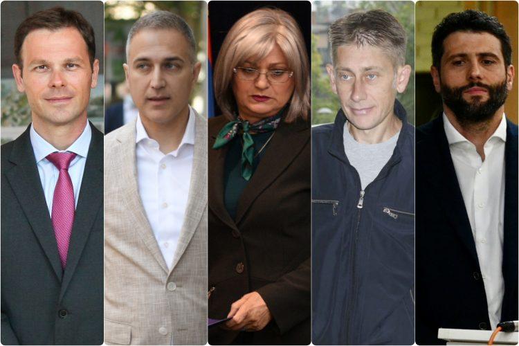 Siniša Mali, Nebojša Stefanović, Aleksandar šapić, Jorgovanka Tabaković, Aleksandar Martinović